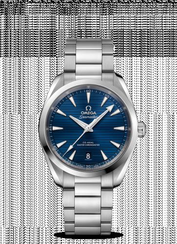 220.10.38.20.03.001 : Omega Seamaster Aqua Terra 150M Master Chronometer 38 Stainless Steel / Blue / Bracelet