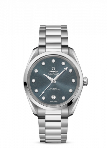 Omega 220.10.38.20.53.001 : Seamaster Aqua Terra 150M Master Chronometer 38 Stainless Steel / Blue Grey / Bracelet