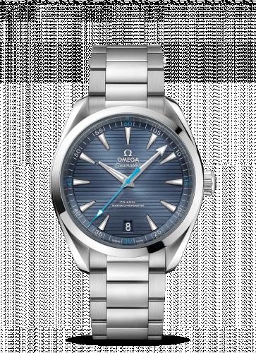 220.10.41.21.03.002 : Omega Seamaster Aqua Terra 150M Master Chronometer 41 Stainless Steel / Blue / Bracelet