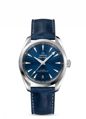 220.13.38.20.03.001 : Omega Seamaster Aqua Terra 150M Master Chronometer 38 Stainless Steel / Blue / Alligator