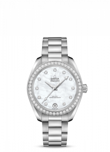Omega 220.15.34.20.55.001 : Seamaster Aqua Terra 150M Master Chronometer 34 Stainless Steel / Diamond / MOP / Bracelet