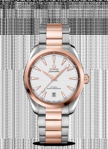 Omega 220.20.38.20.02.001 : Seamaster Aqua Terra 150M Master Chronometer 38 Stainless Steel / Sedna Gold / Silver / Bracelet