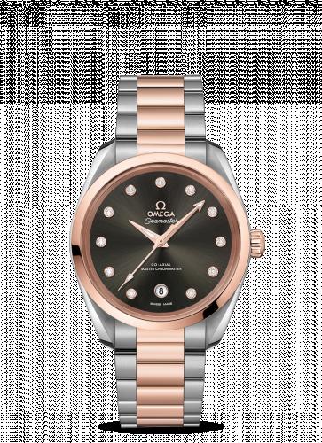 Omega 220.20.38.20.56.001 : Seamaster Aqua Terra 150M Master Chronometer 38 Stainless Steel / Sedna Gold / Grey / Bracelet