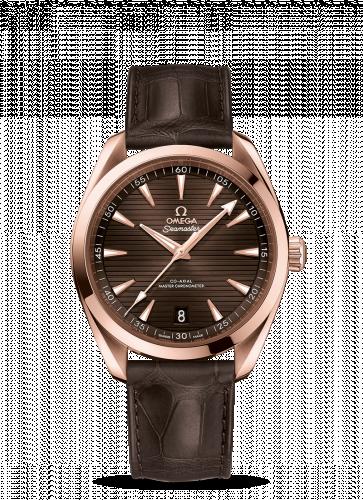 220.53.41.21.13.001 : Omega Seamaster Aqua Terra 150M Master Chronometer 41 Sedna Gold / Brown / Alligator