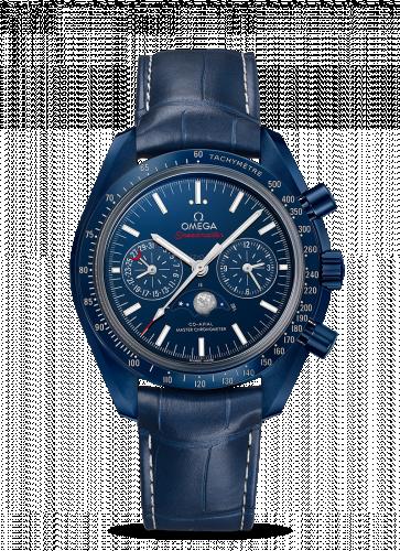 Omega 304.93.44.52.03.001 : Speedmaster Moonphase Chronograph Master Chronometer Blue Side of the Moon