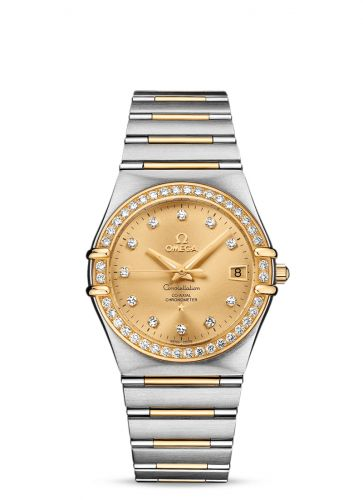 Omega 111.25.36.20.58.001 : Constellation Automatic 36 Stainless Steel / Yellow Gold / Diamond / Champagne / 160 Years