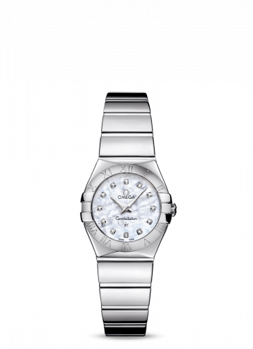 Omega 123.10.24.60.55.002 : Constellation Quartz 24 Polished Stainless Steel / MOP