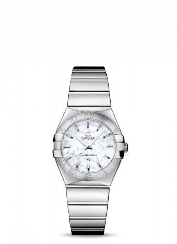 Omega 123.10.27.60.05.002 : Constellation Quartz 27 Polished Stainless Steel / MOP
