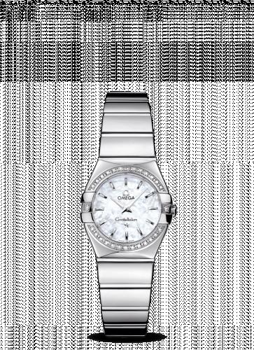 Omega 123.15.24.60.05.002 : Constellation Quartz 24 Polished Stainless Steel / Diamond Bezel / MOP