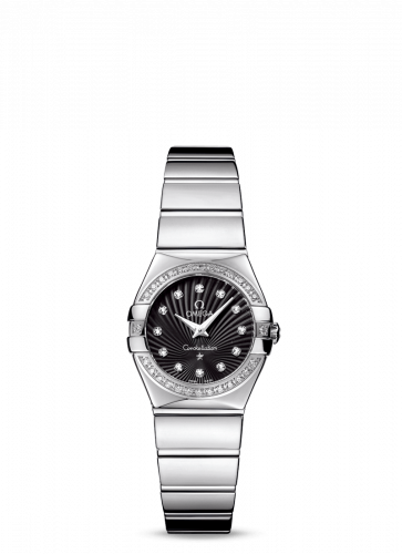 Omega 123.15.24.60.51.002 : Constellation Quartz 24 Polished Stainless Steel / Diamond / Black Supernova