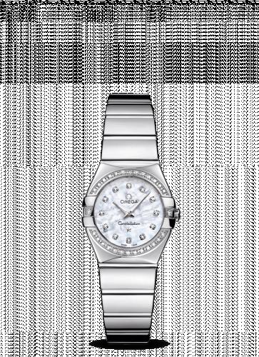 Omega 123.15.24.60.55.003 : Constellation Quartz 24 Polished Stainless Steel / Diamond / MOP