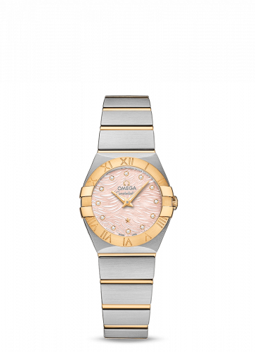 Omega 123.20.24.60.57.004 : Constellation Quartz 24 Stainless Steel / Yellow Gold / Pink MOP