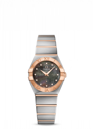 Omega 123.20.24.60.57.005 : Constellation Quartz 24 Stainless Steel / Red Gold / Brown MOP