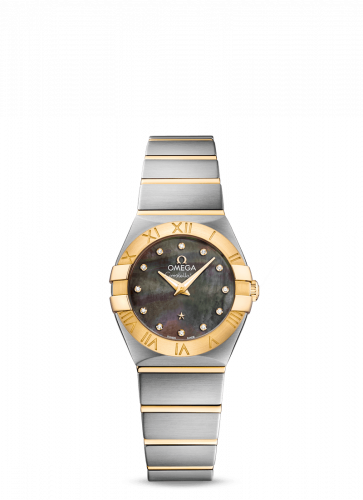 Omega 123.20.24.60.57.006 : Constellation Quartz 24 Stainless Steel / Yellow Gold / Grey MOP