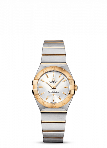 Omega 123.20.27.60.02.002 : Constellation Quartz 27 Brushed Stainless Steel / Yellow Gold / Silver