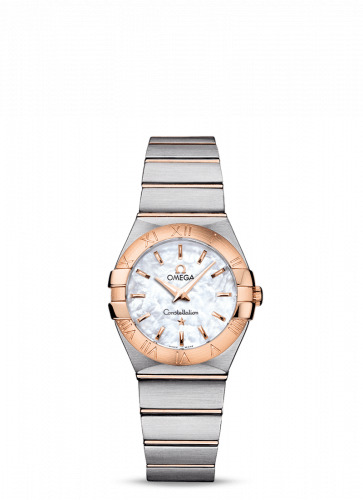 Omega 123.20.27.60.05.001 : Constellation Quartz 27 Brushed Stainless Steel / Red Gold / MOP