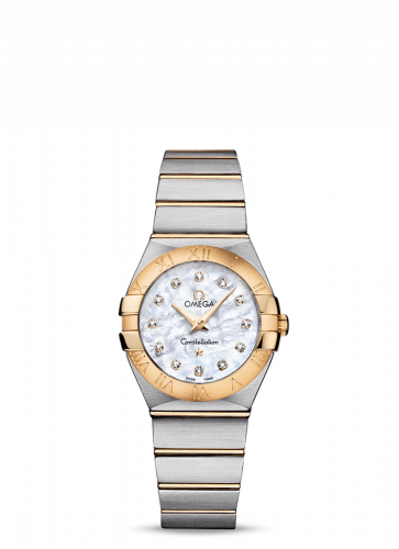 Omega 123.20.27.60.55.002 : Constellation Quartz 27 Brushed Stainless Steel / Yellow Gold / MOP