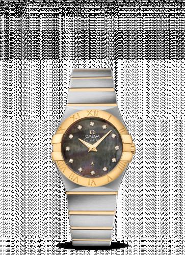 Omega 123.20.27.60.57.007 : Constellation Quartz 27 Brushed Stainless Steel / Yellow Gold / Tahiti MOP