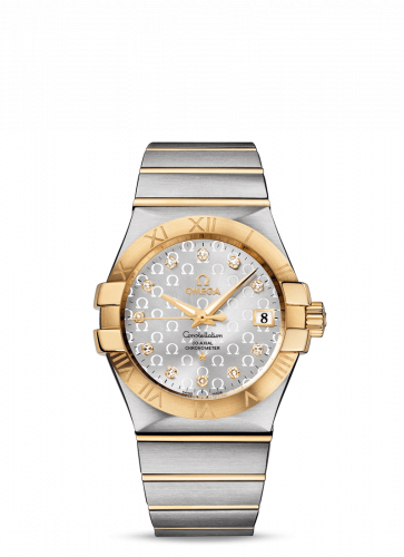 Omega 123.20.35.20.52.004 : Constellation Co-Axial 35 Stainless Steel / Yellow Gold / Silver Omega