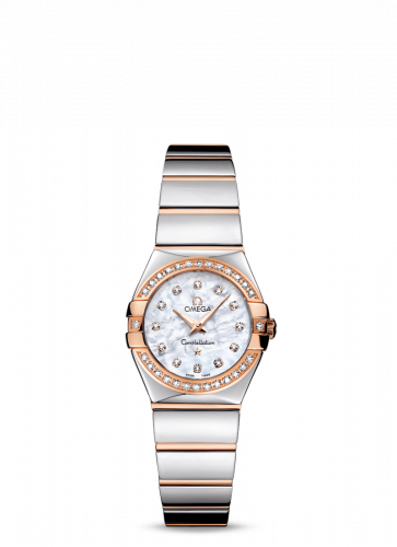 Omega 123.25.24.60.55.005 : Constellation Quartz 24 Polished Stainless Steel / Red Gold / Diamond / MOP