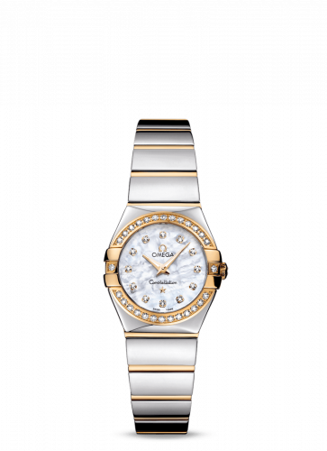 Omega 123.25.24.60.55.007 : Constellation Quartz 24 Polished Stainless Steel / Yellow Gold / Diamond / MOP