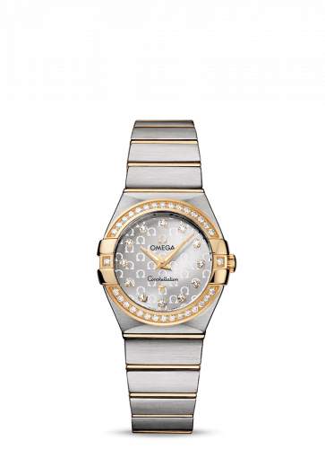 Omega 123.25.27.60.52.002 : Constellation Quartz 27 Brushed Stainless Steel / Yellow Gold / Diamond / Silver Omega