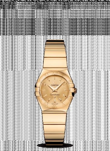 Omega 123.50.24.60.08.002 : Constellation Quartz 24 Polished Yellow Gold / Champagne