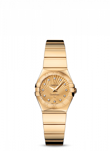 Omega 123.50.24.60.58.002 : Constellation Quartz 24 Polished Yellow Gold / Champagne Supernova