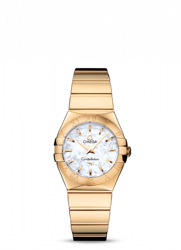 Omega 123.50.27.60.05.004 : Constellation Quartz 27 Polished Yellow Gold / MOP
