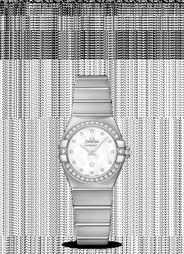 Omega 123.55.24.60.55.017 : Constellation Quartz 24 Brushed White Gold / Diamond / MOP