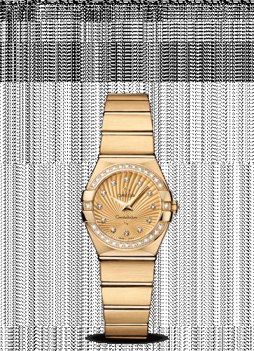 Omega 123.55.24.60.58.001 : Constellation Quartz 24 Brushed Yellow Gold / Diamond / Champagne Supernova