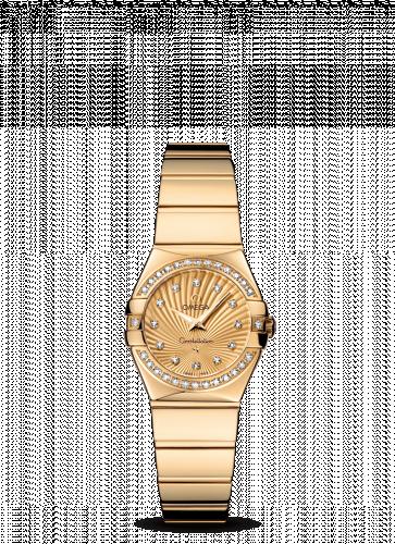 Omega 123.55.24.60.58.002 : Constellation Quartz 24 Polished Yellow Gold / Diamond / Champagne Supernova
