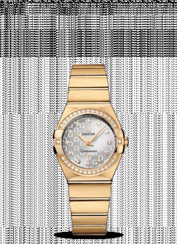 Omega 123.55.27.60.52.002 : Constellation Quartz 27 Brushed Yellow Gold / Diamond / Silver Omega