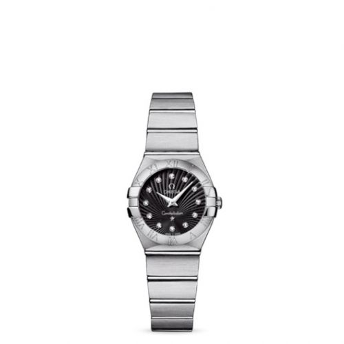 Omega 123.10.24.60.51.001 : Constellation Quartz 24 Brushed Stainless Steel / Black Supernova