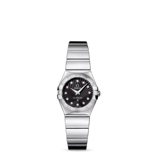 Omega 123.10.24.60.51.002 : Constellation Quartz 24 Polished Stainless Steel / Black Supernova