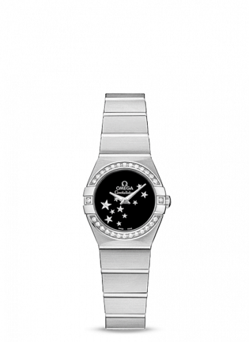 Omega 123.15.24.60.01.001 : Constellation Quartz 24 Brushed Stainless Steel / Diamond / Black Star