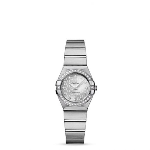 Omega 123.15.24.60.52.001 : Constellation Quartz 24 Brushed Stainless Steel / Diamond / Silver Omega