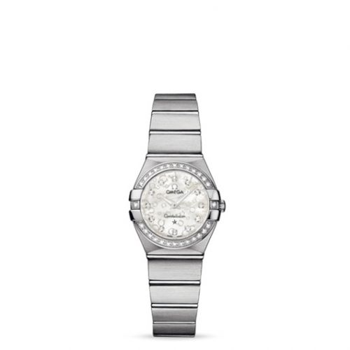 Omega 123.15.24.60.55.005 : Constellation Quartz 24 Brushed Stainless Steel / Diamond / Silver Omega