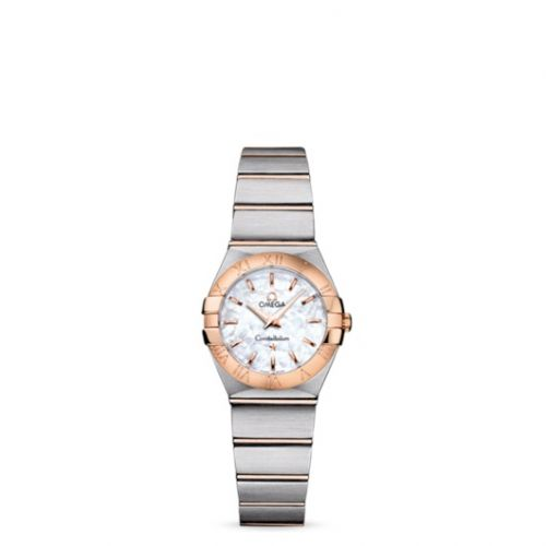 Omega 123.20.24.60.05.001 : Constellation Quartz 24 Brushed Stainless Steel / Red Gold / MOP