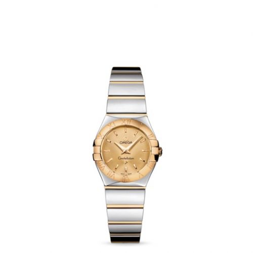 Omega 123.20.24.60.08.002 : Constellation Quartz 24 Polished Stainless Steel / Yellow Gold / Champagne