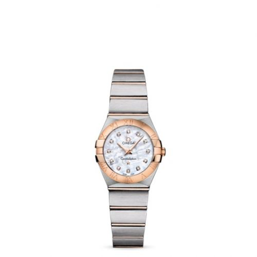Omega 123.20.24.60.55.001 : Constellation Quartz 24 Brushed Stainless Steel / Red Gold / MOP