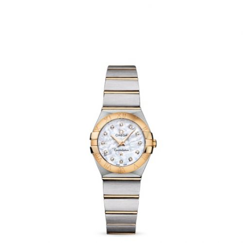Omega 123.20.24.60.55.002 : Constellation Quartz 24 Brushed Stainless Steel / Yellow Gold / MOP