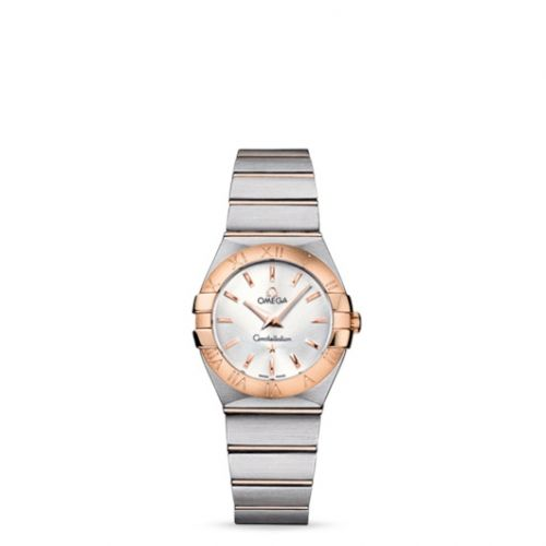 Omega 123.20.27.60.02.001 : Constellation Quartz 27 Brushed Stainless Steel / Red Gold / Silver