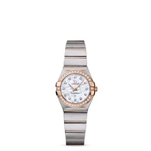 Omega 123.25.24.60.55.001 : Constellation Quartz 24 Brushed Stainless Steel / Red Gold / Diamond / MOP