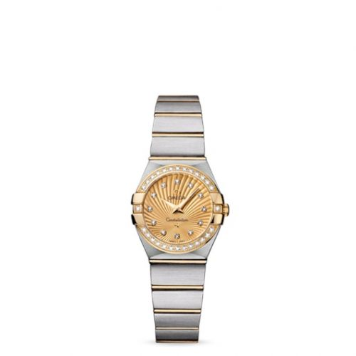 Omega 123.25.24.60.58.001 : Constellation Quartz 24 Brushed Stainless Steel / Yellow Gold / Diamond / Champagne Supernova