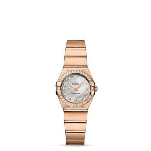 Omega 123.55.24.60.52.001 : Constellation Quartz 24 Brushed Red Gold / Diamond / Silver Omega