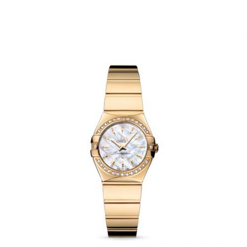 Omega 123.55.24.60.55.008 : Constellation Quartz 24 Polished Yellow Gold / Diamond / MOP