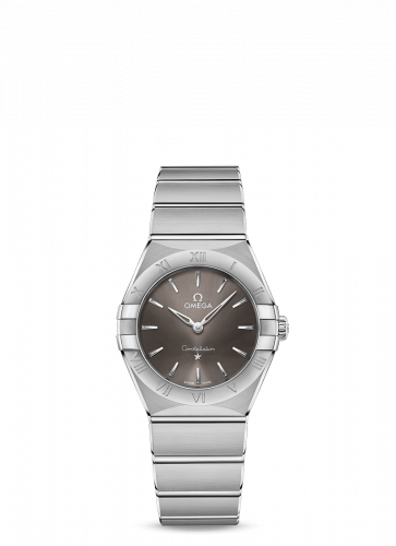 Omega 131.10.28.60.06.001 : Constellation Manhattan 28 Quartz Stainless Steel / Grey