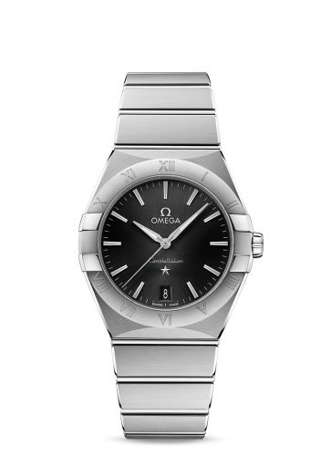 131.10.36.60.01.001 : Omega Constellation Quartz 36 Stainless Steel / Black / Bracelet
