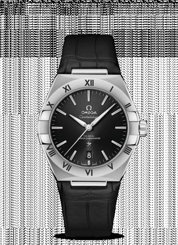 Omega 131.13.39.20.01.001 : Constellation Master Chronometer 39 Stainless Steel / Black / Alligator